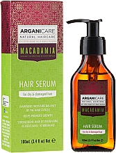 Düfte, Parfümerie und Kosmetik Feuchtigkeitsspendendes Serum mit Argan- und Macadamiaöl für trockenes und stapaziertes Haar - Arganicare Macadamia Hair Serum for Dry & Damaged Hair