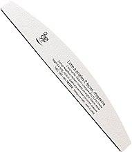Düfte, Parfümerie und Kosmetik Doppelseitige Nagelfeile waschbar 180/180 weiß - Peggy Sage 2-way Washable Half-Moon Medium Nail File