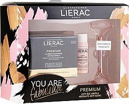 Düfte, Parfümerie und Kosmetik Gesichtspflegeset - Lierac Premium Anti-Age Absolu Set (Gesichtscreme 50ml + Mizellen-Reinigungsmilch 30ml + Gesichtsroller 1St.)