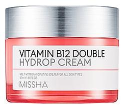Düfte, Parfümerie und Kosmetik Feuchtigkeitsspendende Gesichtscreme mit Vitamin B12 - Missha Vitamin B12 Double Hydrop Cream