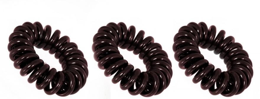 "Haargummis ""Chocolate Brown"" 3 St. - Invisibobble Chocolate Brown — Bild N3"