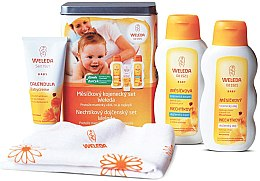 Düfte, Parfümerie und Kosmetik Babyset - Weleda Baby Calendula Set (Körpecreme/75ml + Krembad/200ml + Körperöl/200ml)