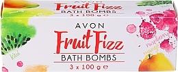 Düfte, Parfümerie und Kosmetik Badebomben-Set - Avon Fruit Fizz Bath Bombs (Badebombe 3x100g)