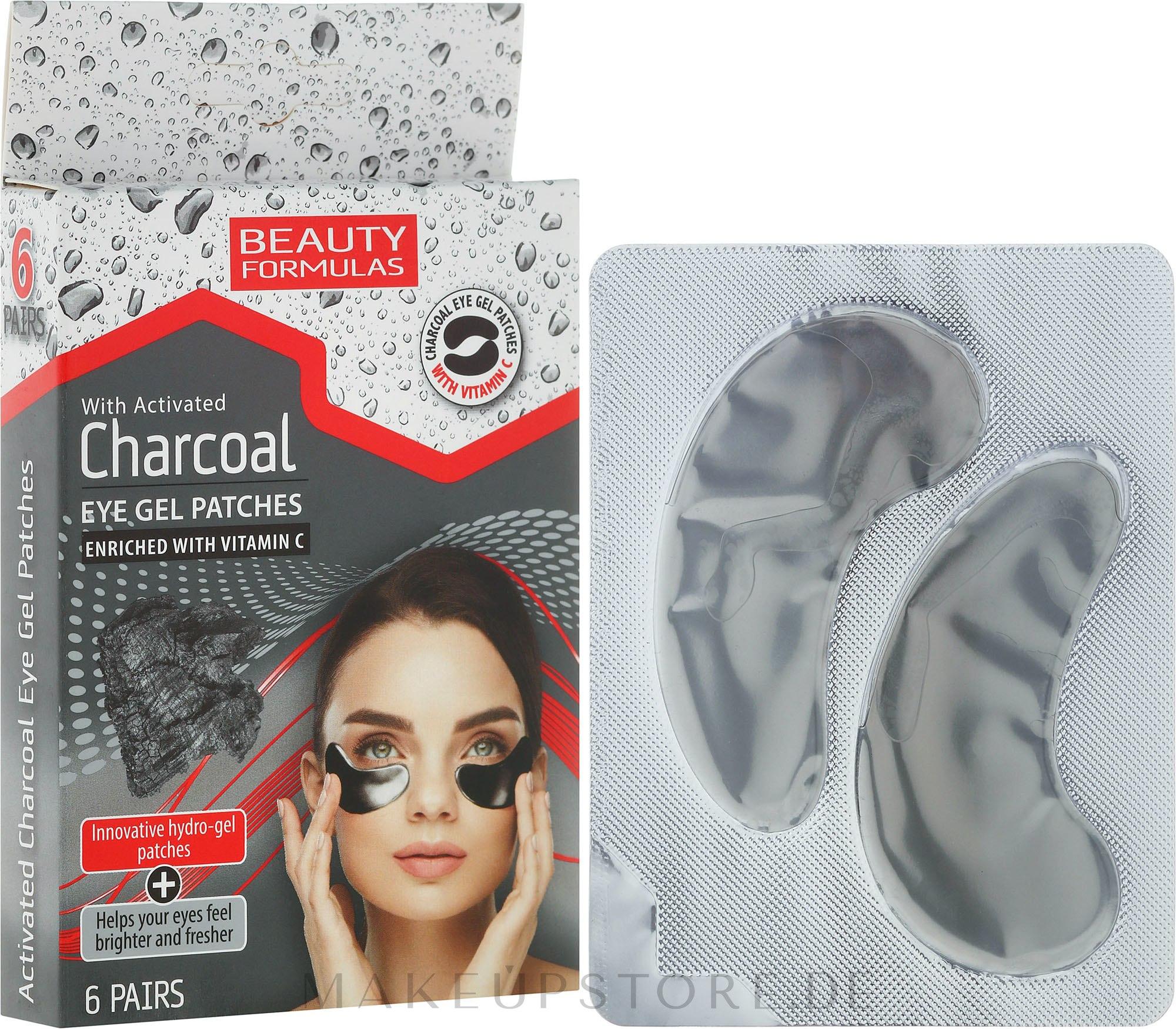 Augenpads mit Aktivkohle und Vitamin C - Beauty Formulas Charcoal Eye Gel Patches — Bild 6 St..