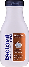 Düfte, Parfümerie und Kosmetik 3in1 Feuchtigkeitsspendendes Duschgel für Männer - Lactovit Men Sensitive 3v1 Shower Gel