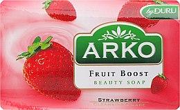 Düfte, Parfümerie und Kosmetik Parfümierte Körperseife - Arko Fruit Boost Beaty Soap Strawberry