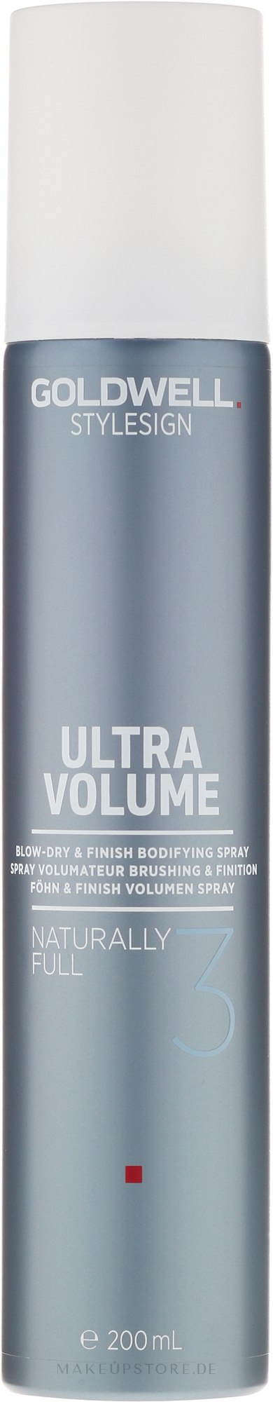 Föhn und Finish Volumen Spray - Goldwell Style Sign Ultra Volume Naturally Full — Bild 200 ml