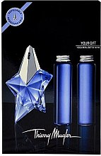 Düfte, Parfümerie und Kosmetik Thierry Mugler Angel - Duftset (Eau de Parfum/50ml + Nachfüllung/2x50ml)