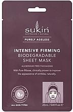 Düfte, Parfümerie und Kosmetik Intensiv straffende Tuchmaske für das Gesicht - Sukin Purely Ageless Intensive Firming Biodegradable Sheet Mask