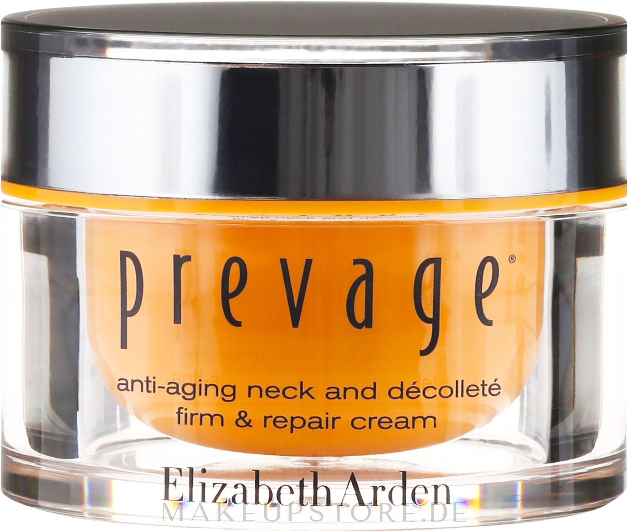 Straffende Pflege für Hals, Dekolleté und die Gesichtskonturen - Elizabeth Arden Prevage Neck and Decollette Firm & Repair Cream — Bild 50 ml