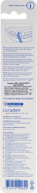 Einbüschelbürste CS 1006 Single blau-rosa - Curaprox — Bild N2