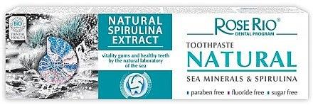 Zahnpasta mit Spirulina und Mineralien aus dem schwarzem Meer - Rose Rio Natural Sea Minerals & Spirulina Toothpaste — Bild N1