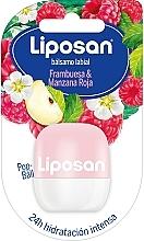 Düfte, Parfümerie und Kosmetik Lippenbalsam Himbeere und roter Apfel - Liposan Pop Ball
