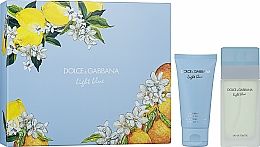 Düfte, Parfümerie und Kosmetik Dolce&Gabbana Light Blue - Duftset (Eau de Toilette 50ml + Körperlotion 50ml)
