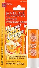 Düfte, Parfümerie und Kosmetik Pflegender und schützender Lippenbalsam mit Honigextrakt und Orangenbutter - Eveline Cosmetics Lip Therapy Nourishing Lip Balm Honey And Orange