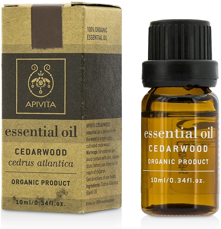 """Ätherisches Öl """"Zederholz"""" - Apivita Aromatherapy Organic Cedar Oil — Bild N1"""