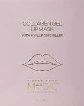 Düfte, Parfümerie und Kosmetik Hydrogel-Lippenmaske mit Kollagen - Pierre Rene Medic Collagen Gel Lip Mask
