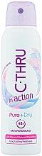 Düfte, Parfümerie und Kosmetik Deospray Antitranspirant - C-Thru In Action Pure + Dry Antyperspirant