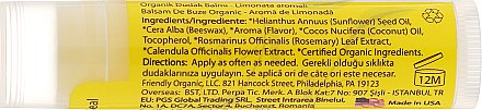 "Bio-Lippenbalsam ""Limonade"" - Friendly Organic Lip Balm Lemonade — Bild N2"