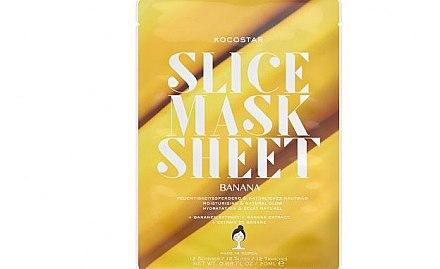 Feuchtigkeitsspendende und belebende Tuchmaske mit Banane - Kocostar Slice Mask Sheet Banana — Bild N1