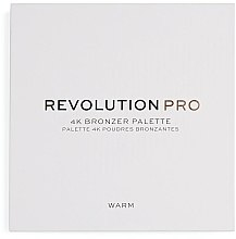 Düfte, Parfümerie und Kosmetik Bronzepuder Quartett - Makeup Revolution Pro 4K Bronzer Palette
