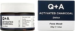 Düfte, Parfümerie und Kosmetik Detox-Gesichtsmaske mit Aktivkohle - Q+A Activated Charcoal Face Mask