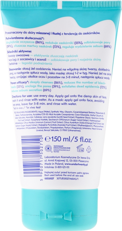 4 in 1 Wash & Peeling Gel - Under Twenty Anti! Acne 4 in 1 Exfoliarting Gel — Bild N2