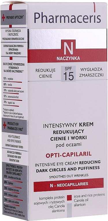 Intensive Augencreme gegen Schwellungen und dunke Augenringe - Pharmaceris N Opti-Capilaril Intensive Eye Cream Reducing Dark Circles and Puffiness — Bild N2