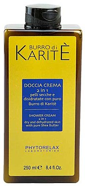 2in1 Duschcreme mit Sheabutter - Phytorelax Laboratories Shea Butter Shower Cream 2 in 1 — Bild N1