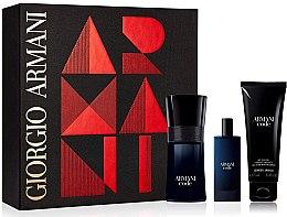Düfte, Parfümerie und Kosmetik Giorgio Armani Code - Duftset (Eau de Toilette 50ml + Mini 15ml + Duschgel 50ml)