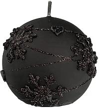 Düfte, Parfümerie und Kosmetik Dekorative Kerze in Kugelform schwarz 8 cm - Artman Snowflake Application