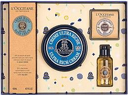 Düfte, Parfümerie und Kosmetik Körperpflegeset - L'Occitane Karite (Handcreme 150ml + Körpercreme 100ml + Duschöl 35ml + Seife 50g)