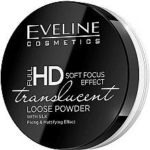 Düfte, Parfümerie und Kosmetik Transparenter loser Fixierpuder mit Seide und Matteffekt - Eveline Cosmetics Full HD Soft Focus Translucent Loose Powder