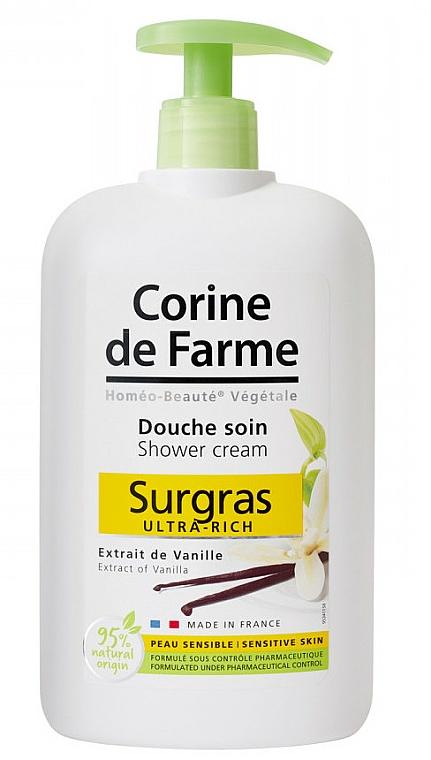 Reichhaltige Duschcreme mit Vanilleextrakt für empfindliche Haut - Corine De Farme Shower Cream — Bild N1