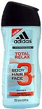 Düfte, Parfümerie und Kosmetik 3in1 Duschgel für Männer - Adidas Total Relax 3in1 Shower Gel