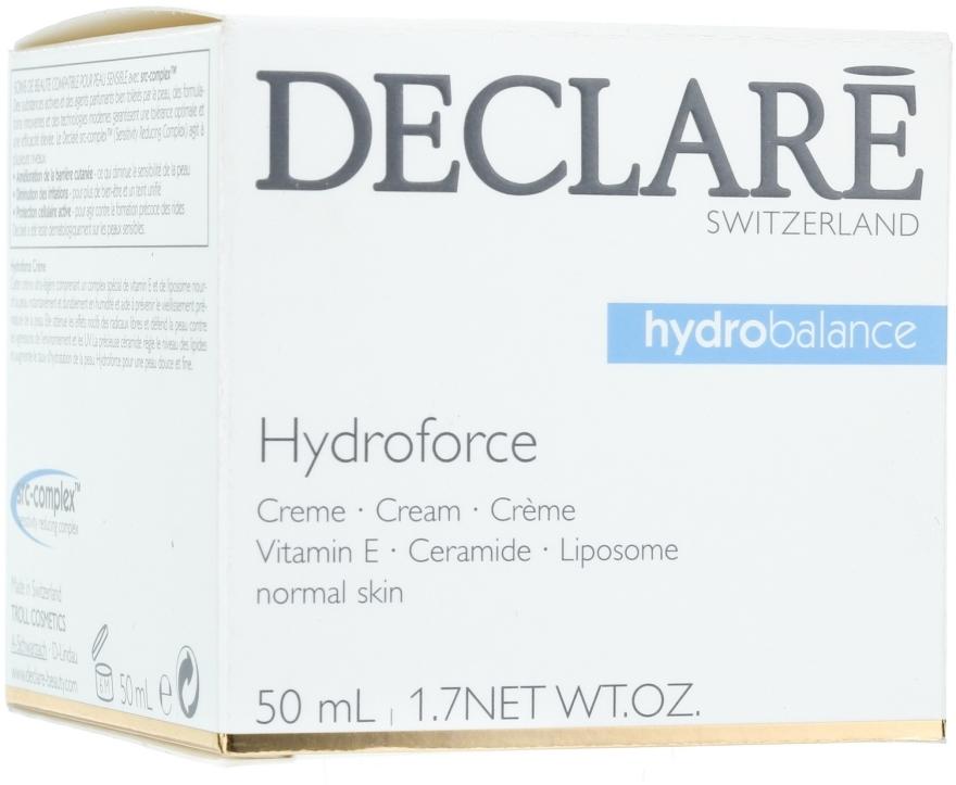 Leichte feuchtigkeitsspendende Gesichtscreme mit Vitamin E, Ceramiden und Liposomen - Declare Hydroforce Cream — Bild N1