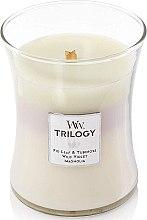 Düfte, Parfümerie und Kosmetik Duftkerze im Glas Terrace Blossoms - WoodWick Hourglass Trilogy Candle Terrace Blossoms
