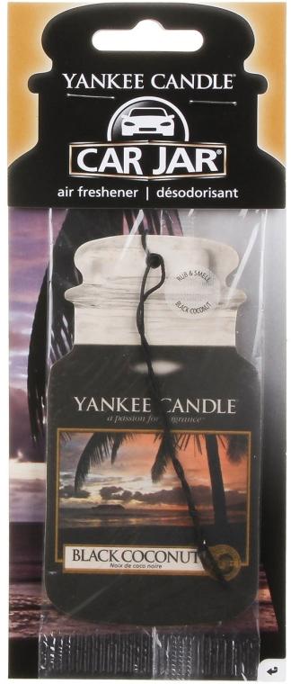 Papier-Lufterfrischer Black Coconut - Yankee Candle Car Jar Black Coconut Air Freshener — Bild N1