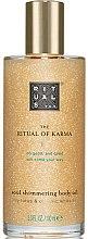 Düfte, Parfümerie und Kosmetik Feuchtigkeitsspendendes Körperöl mit glänzenden Mineralpartikeln - Rituals The Ritual of Karma Body Shimmer Oil