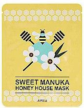 Düfte, Parfümerie und Kosmetik Pflegende und aufhellende Tuchmaske mit Manuka-Honig - A'pieu Sweet Manuka Honey House Mask