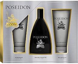 Düfte, Parfümerie und Kosmetik Instituto Espanol Poseidon Gold - Duftset (Eau de Toilette 150ml + After Shave Balsam 150ml + Duschgel 150ml)