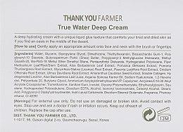 Ultra feuchtigkeitsspendende Gesichtscreme - Thank You Farmer True Water Deep Cream — Bild N3