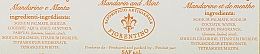 Naturseife mit Mandarine und Minze - Saponificio Artigianale Fiorentino Tangerine & Mint Soap — Bild N2