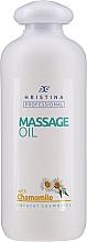 Düfte, Parfümerie und Kosmetik Beruhigendes und entspannendes Massageöl für den Körper mit Kamillenextrakt - Hristina Professional Chamomile Massage Oil