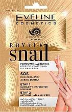 Düfte, Parfümerie und Kosmetik Regenerierende Peelingmaske für die Hände mit Moringa-Öl und Säurekomplex - Eveline Cosmetics Royal Snail Sos Regenerating Hand Treatment