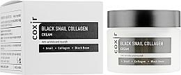 Düfte, Parfümerie und Kosmetik Nährende Anti-Falten Gesichtscreme mit Schneckenschleimfiltrat und Kollagen - Coxir Black Snail Collagen Cream Anti-Wrinkle And Nourish