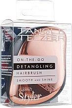 Düfte, Parfümerie und Kosmetik Kompakte Haarbürste rosegold - Tangle Teezer Compact Styler Rose Gold