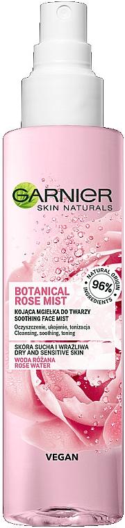 Beruhigender Gesichtsnebel mit Rosenwasser für trockene und empfindliche Haut - Garnier Skin Naturals Botanical Rose Mist — Bild N1