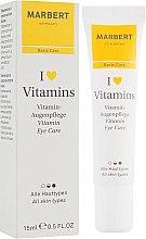 Düfte, Parfümerie und Kosmetik Augenkonturcreme mit Vitaminen und Sheabutter - Marbert I love Vitamins Eye Care