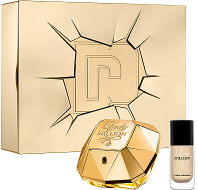 Paco Rabanne Lady Million - Duftset (Eau de Parfum 50ml + Nagellack 9ml) — Bild N1